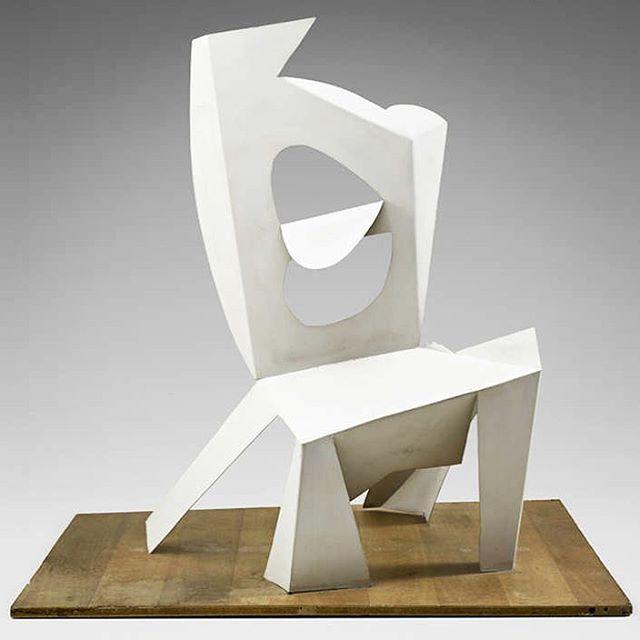 Picasso | Chair | 1961 . . . #sheetmetal #sculpture #artchair #foldedplanes #spatialexperience #movement