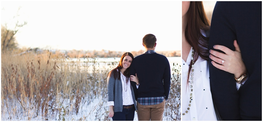 Colorado winter engagement session