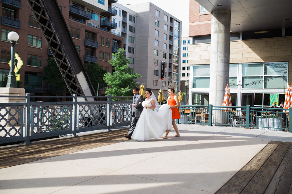 Coohills Wedding Photographer - bride on a bridge