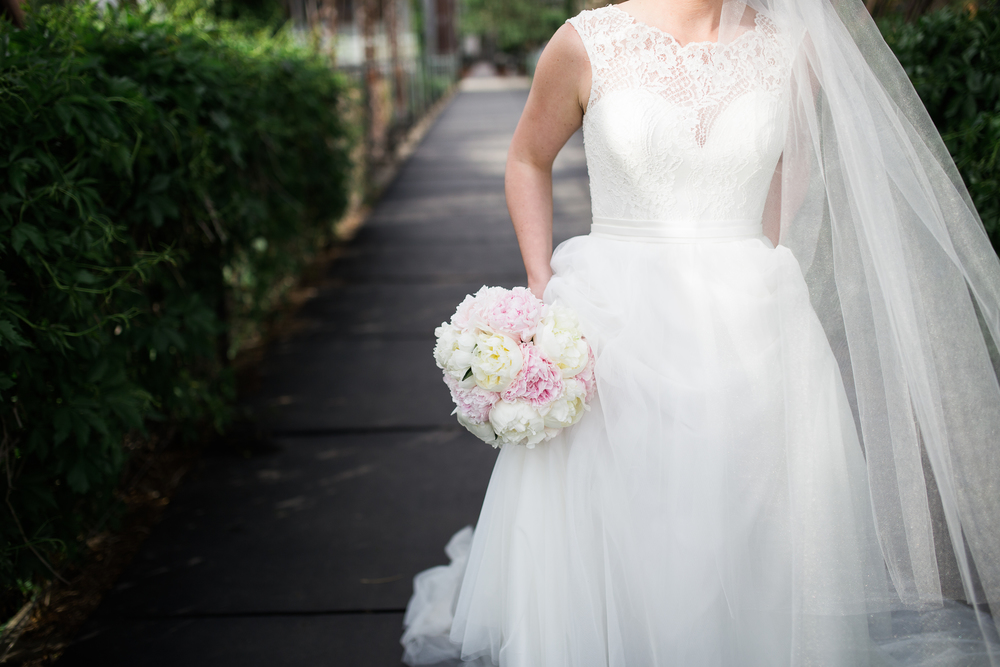 Coohills Wedding Photographer - peony wedding bouquet by plum sage flowers