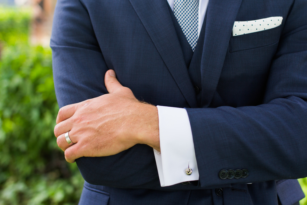 Coohills Wedding Photographer - groom blue suit and cufflinks