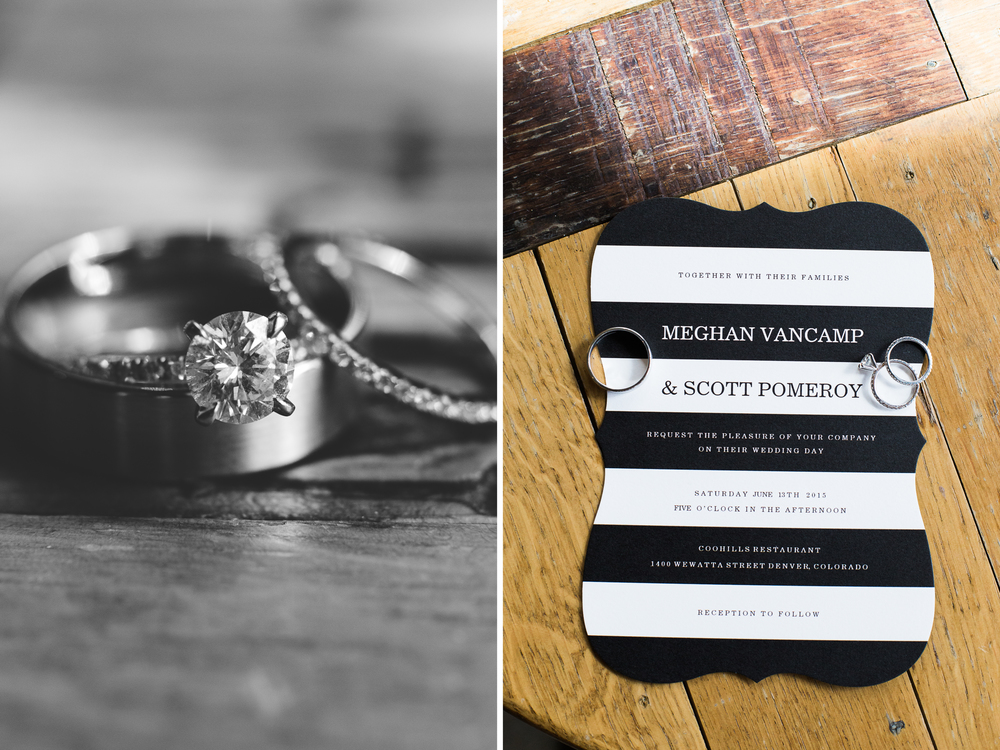 Coohills Wedding Photographer - wedding rings and invitation