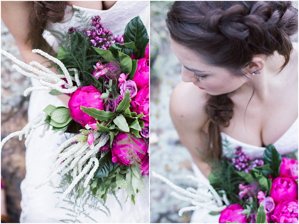 Colorado Mountain Wedding Photographer - bridal braid