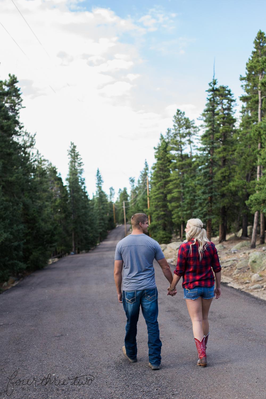 Colorado mountain engagement shoot - Colorado Mountain Wedding Photographer