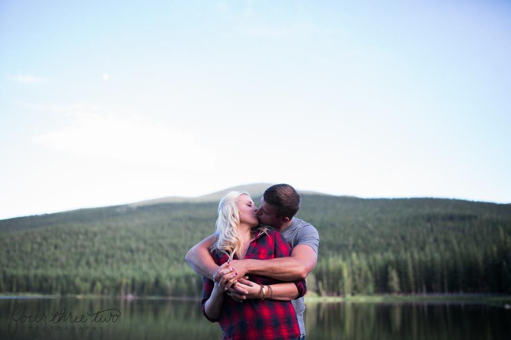 Colorado Mountain Wedding Photographer - romantic mountain engagement shoot