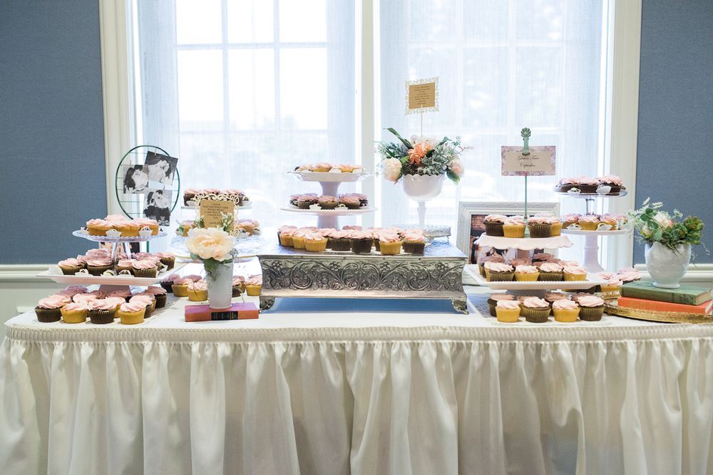 shabby chic cupcake wedding table