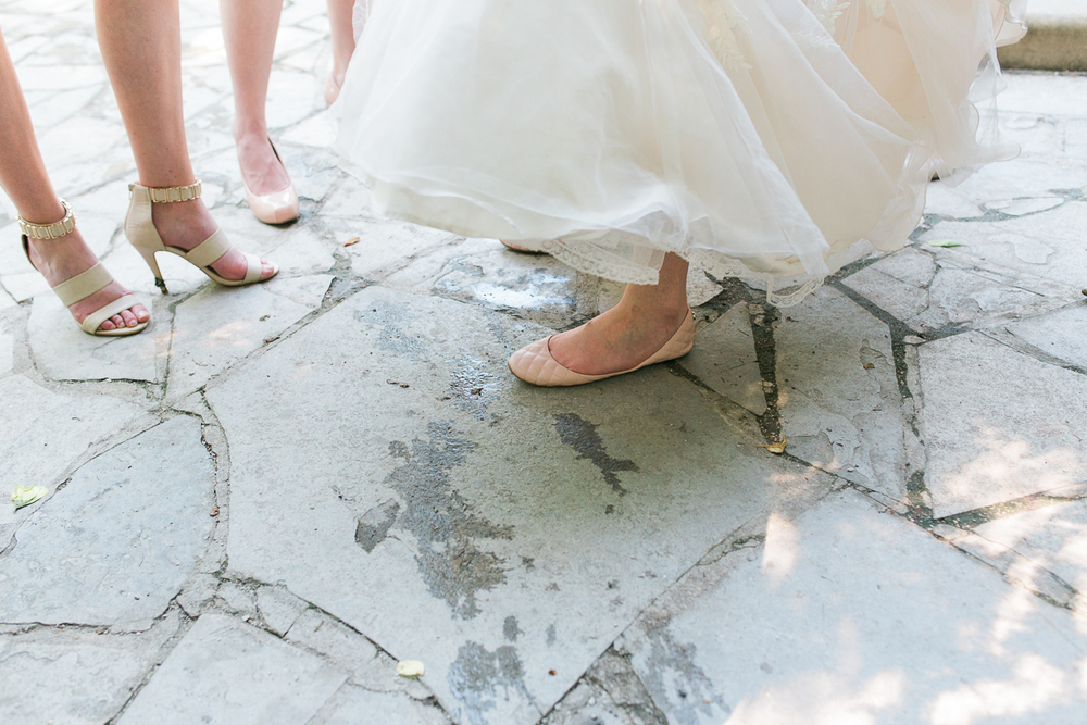light pink bridal flats