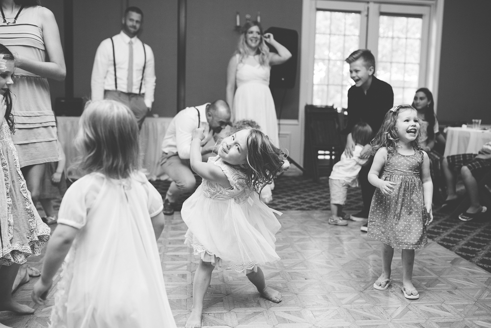 kids wedding dance party