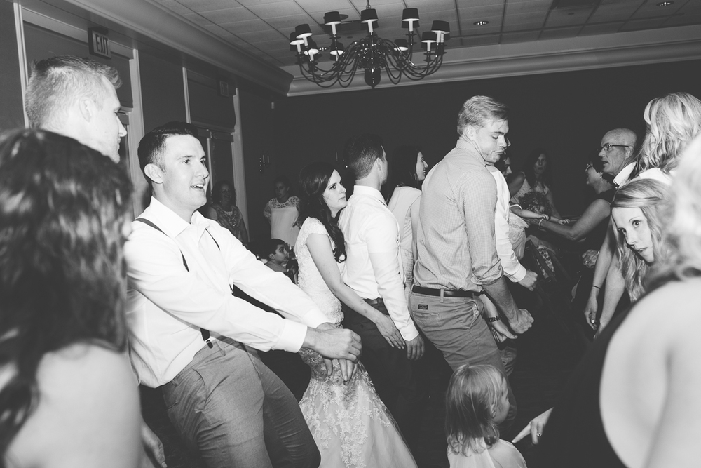 wild wedding reception dancing