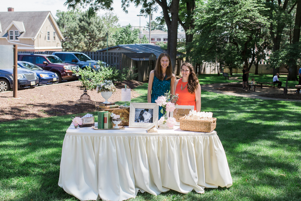 Wedding welcome table - outdoor colorado wedding photographer