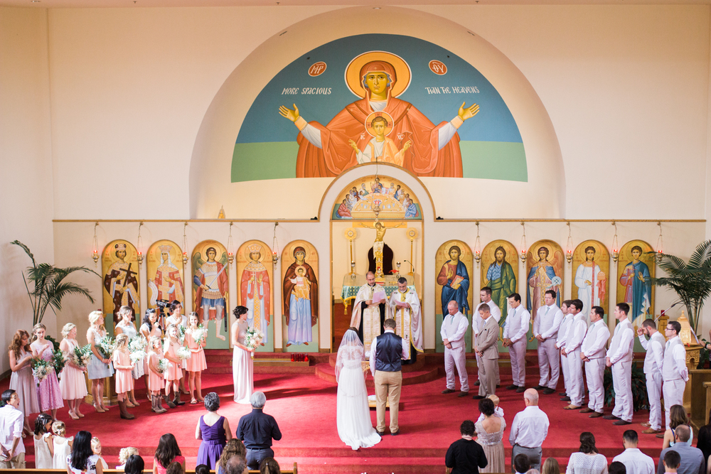 Colorado Greek orthodox church wedding