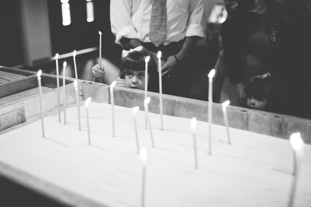 colorado wedding with candles