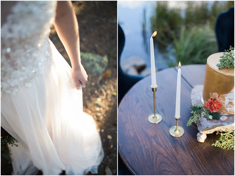 Colorado Mountain Wedding Photographer - romantic candle wedding