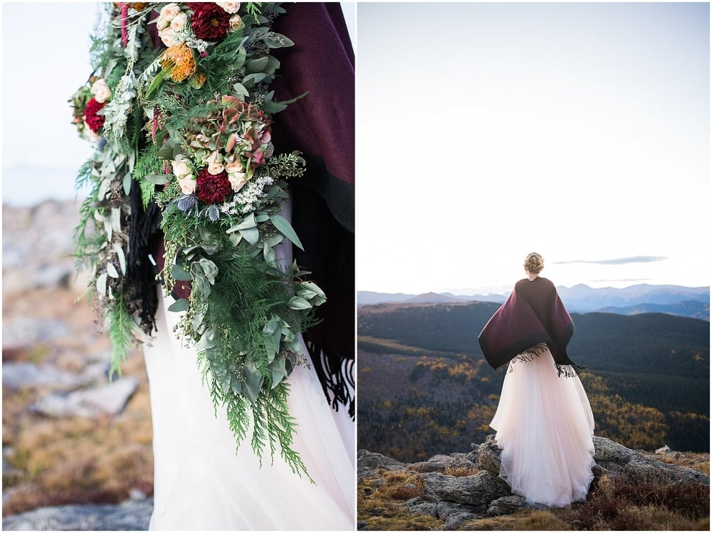 Colorado Mountain Wedding Photographer - mountain top bridal pictures