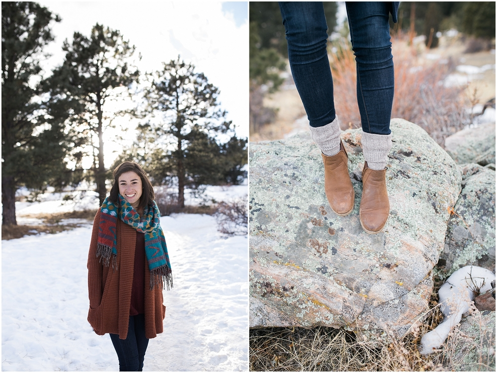 colorado girl in the woods