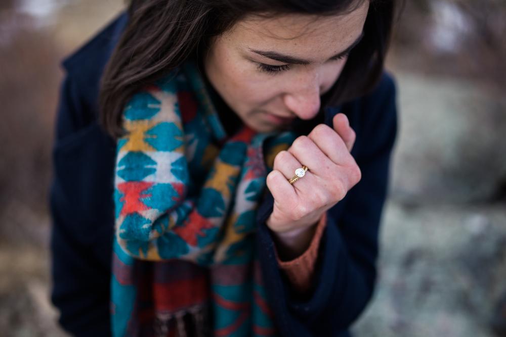 engaged ring shot