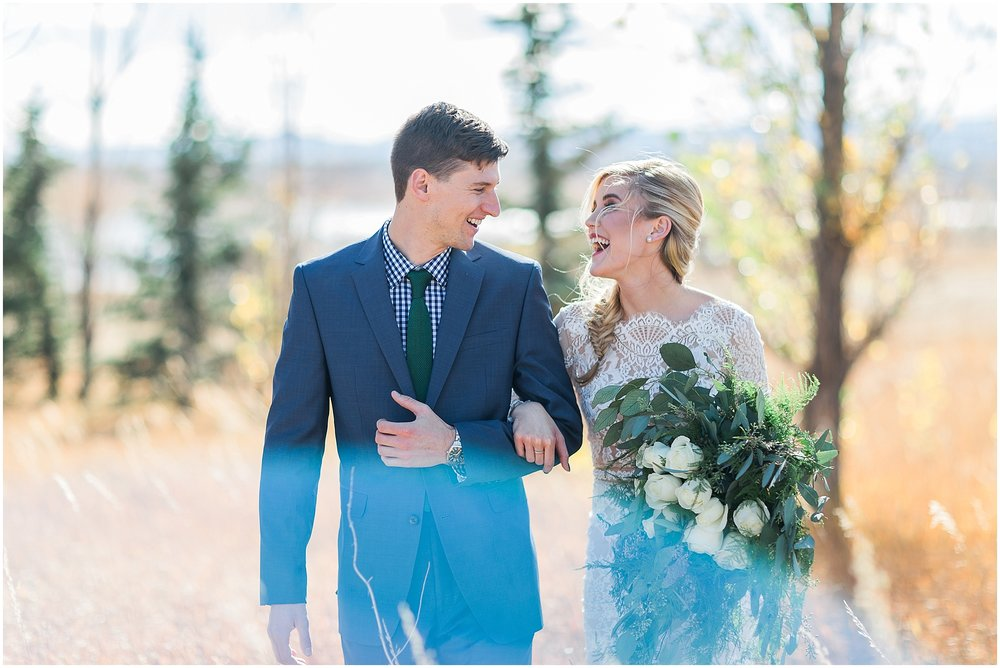 happy Colorado wedding