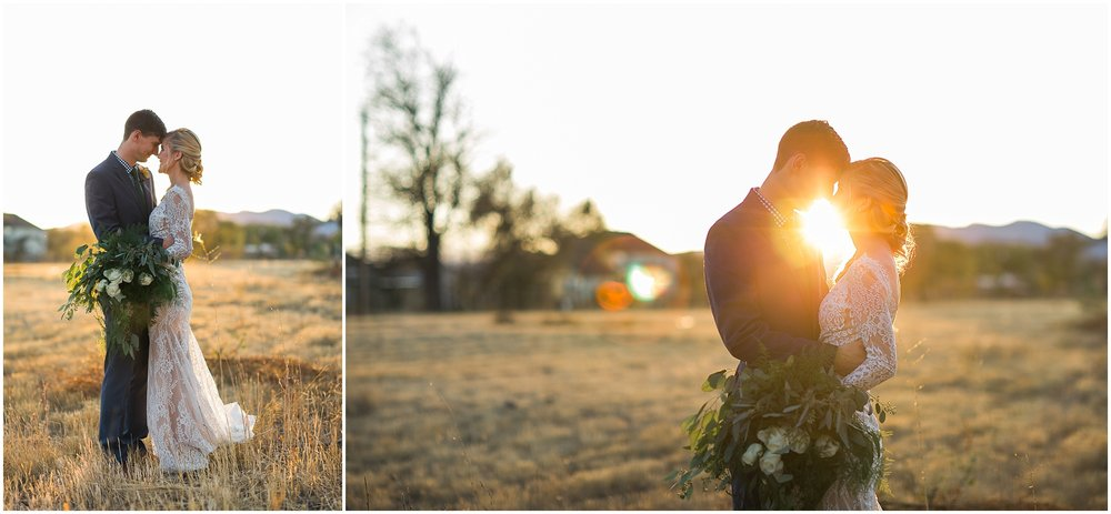 romantic sunset wedding