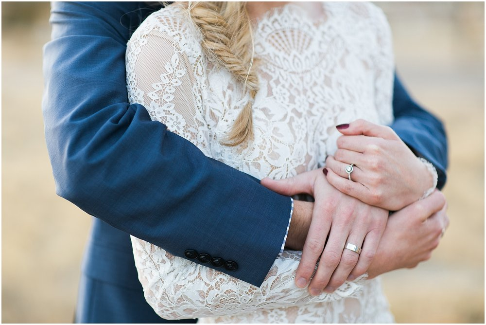 lace and navy wedding