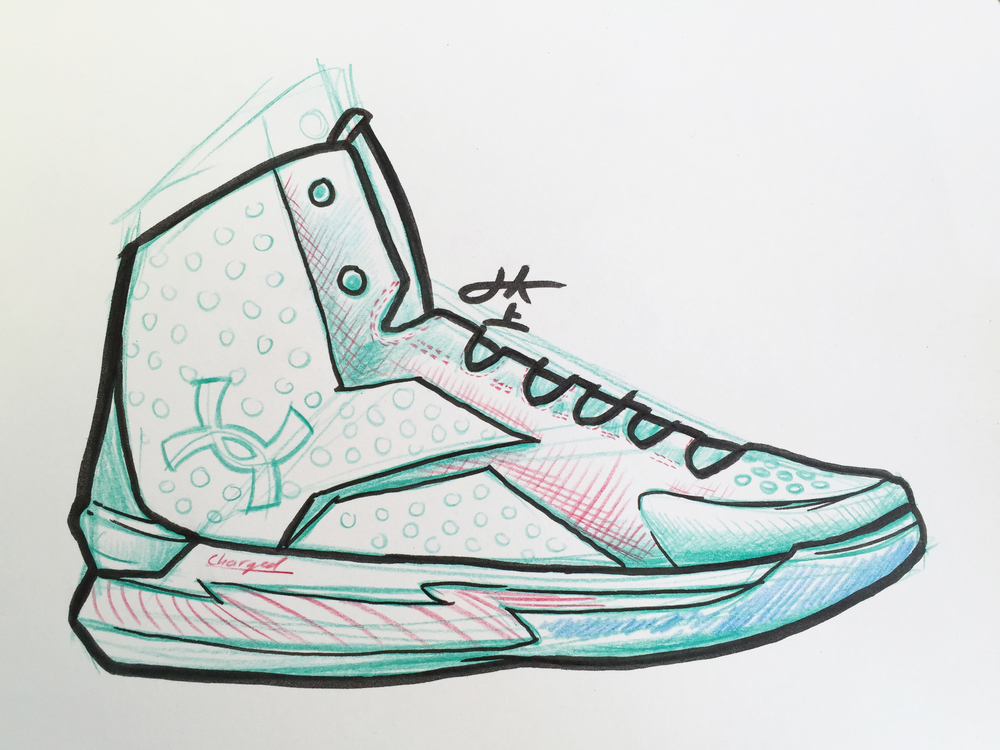 Drawing Of Stephen Curry Shoes