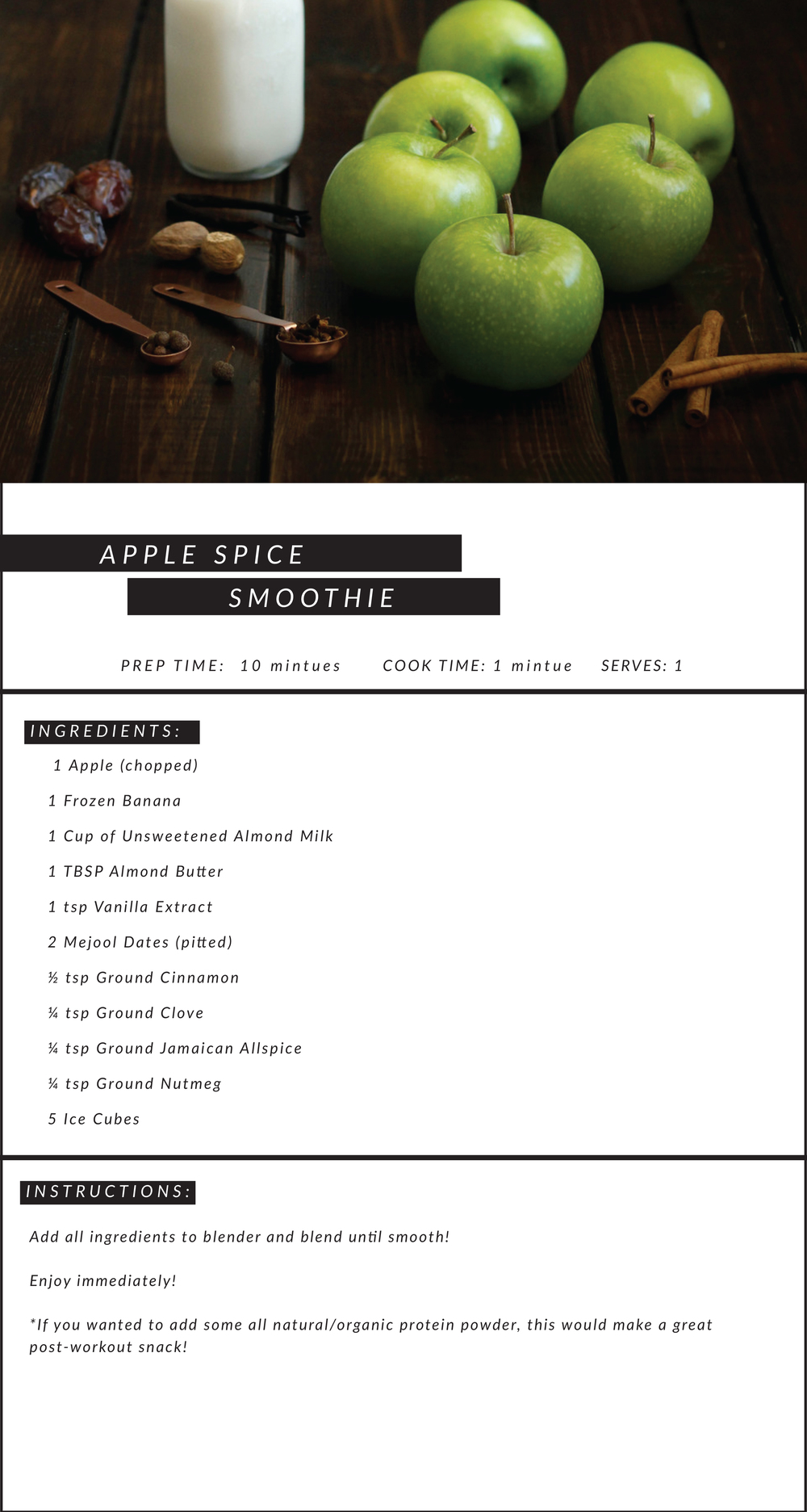 Apple Spice Smoothie Recipe