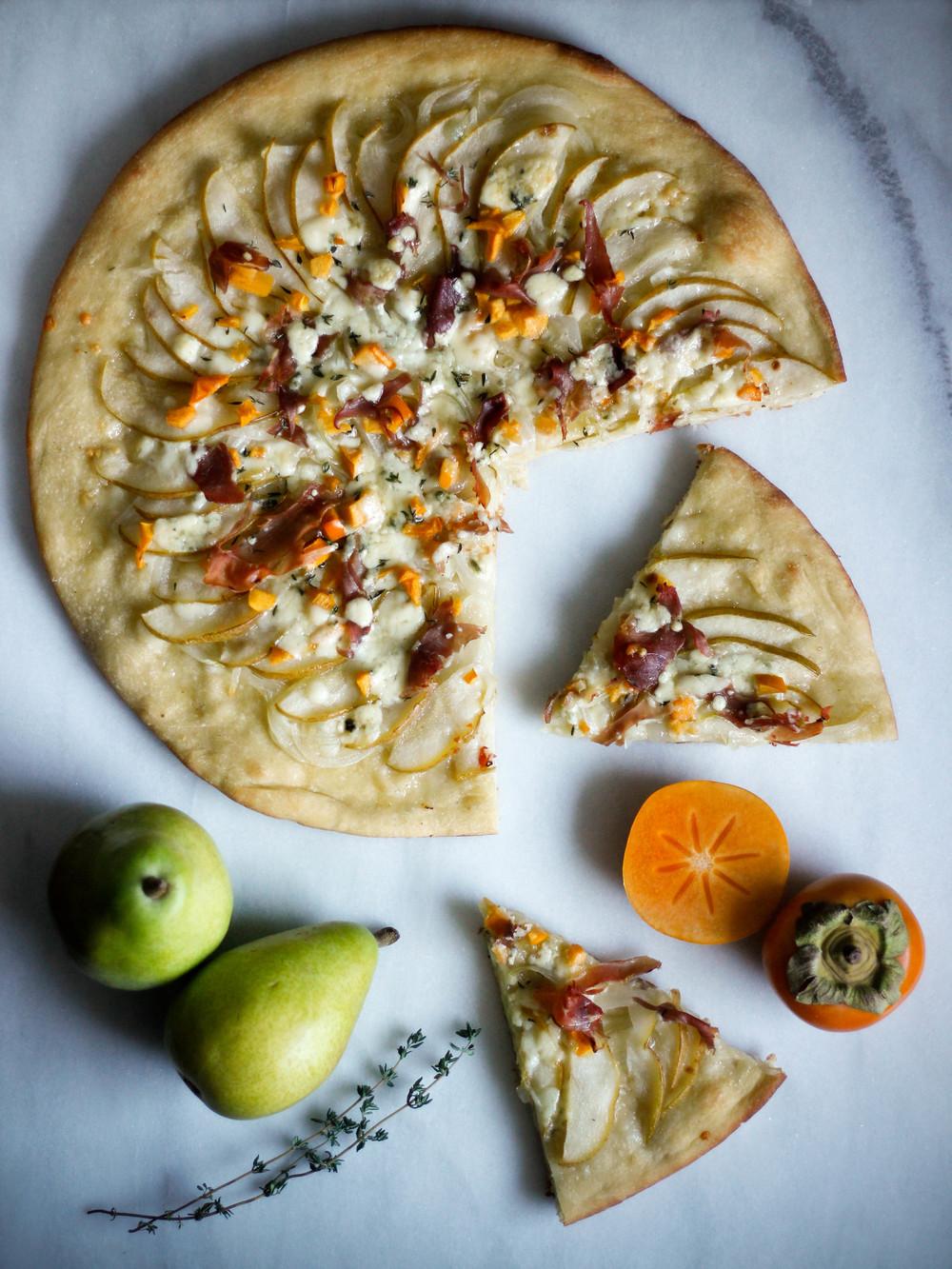 Pear + Prosciutto Pizza