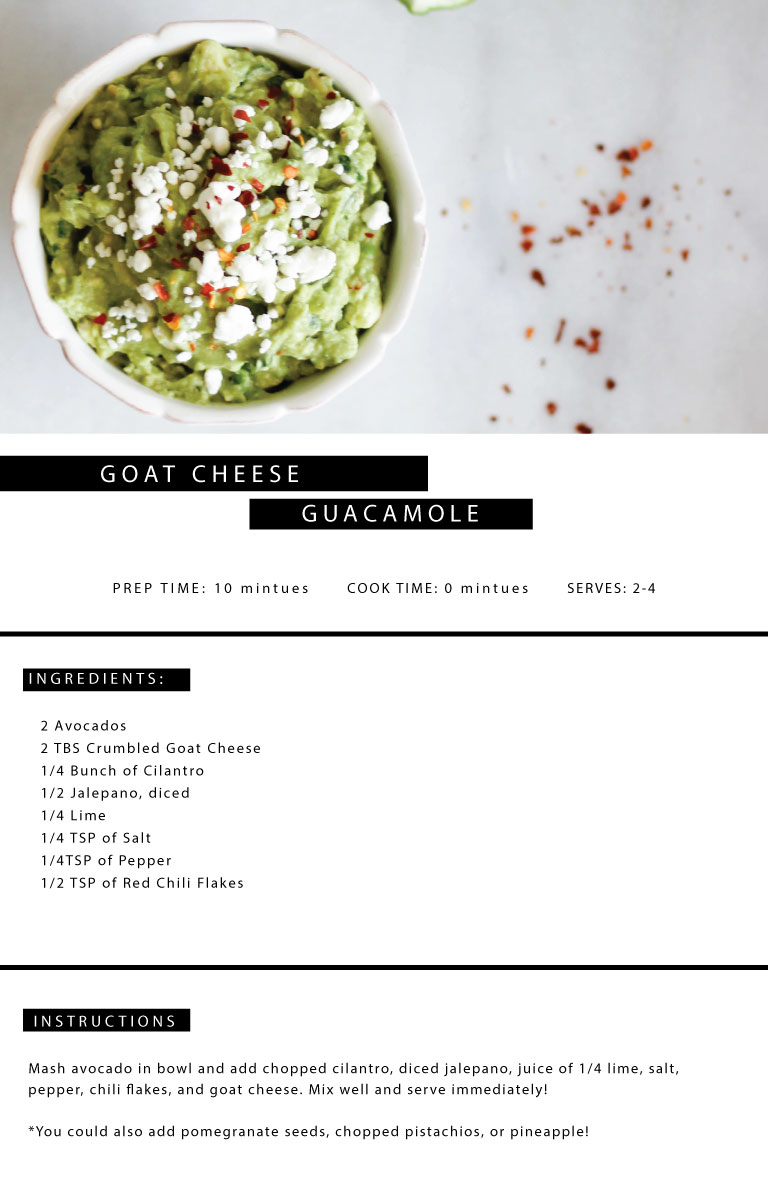 Goat Cheese Guacamole   Jennifer Diaz