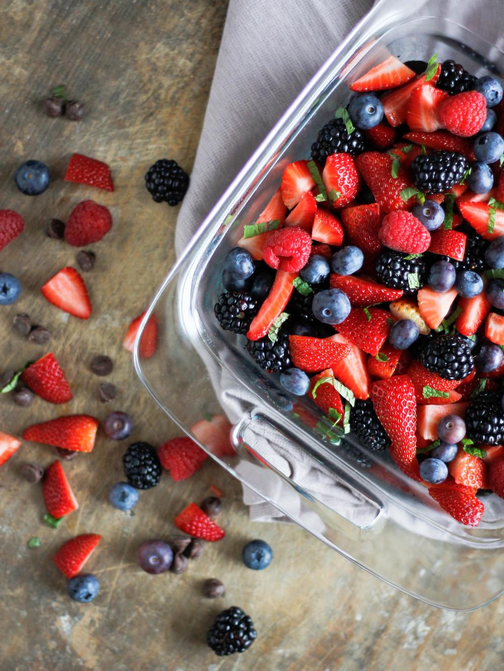 Black Bean Brownies + Mixed Berries | Jennifer Diaz