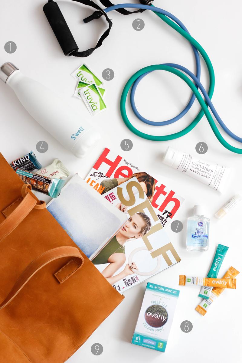 10 Healthy Travel Essentials | Jennifer Diaz