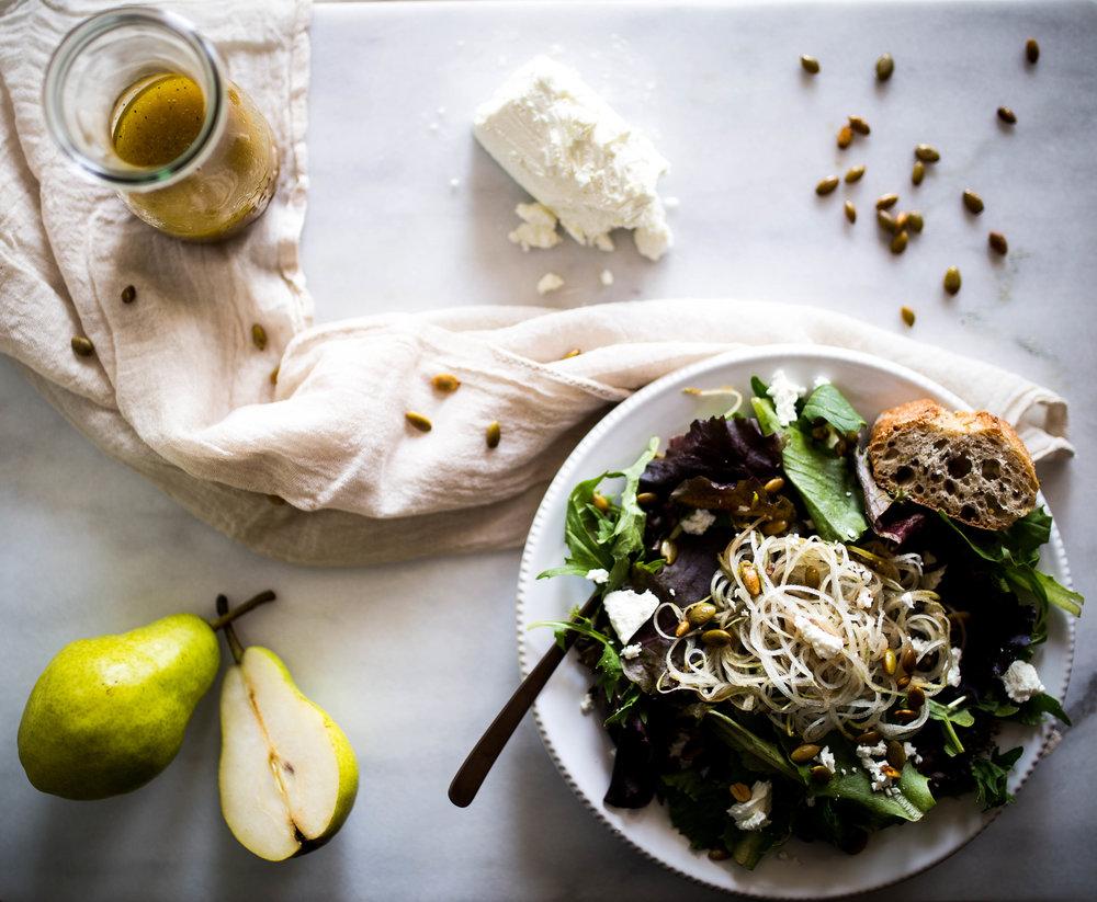 Pear + Pumpkin Seed Salad | Jennifer Diaz