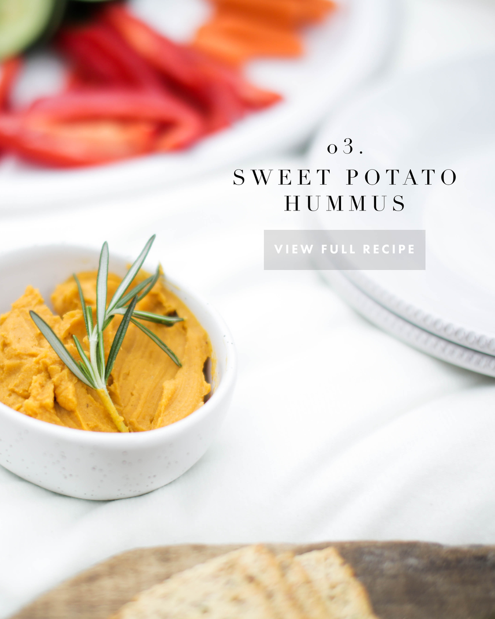 A Post Hike Picnic: Sweet Potato Hummus | Jennifer Diaz | Photo by Kelsey Cherry | PDF by Amy May Paper