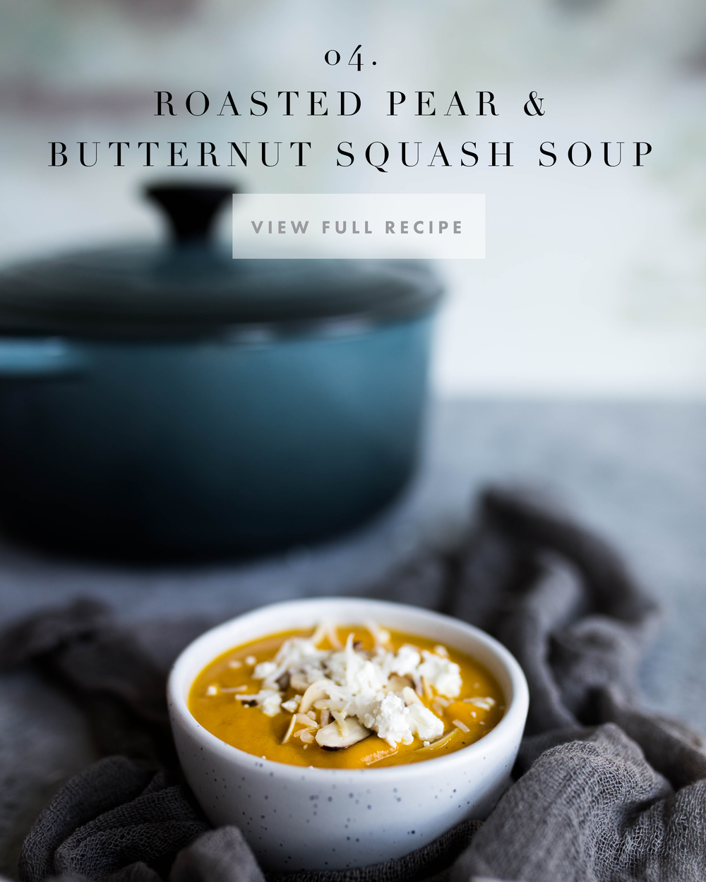 Roasted Pear & Butternut Squash Soup | Jennifer Diaz