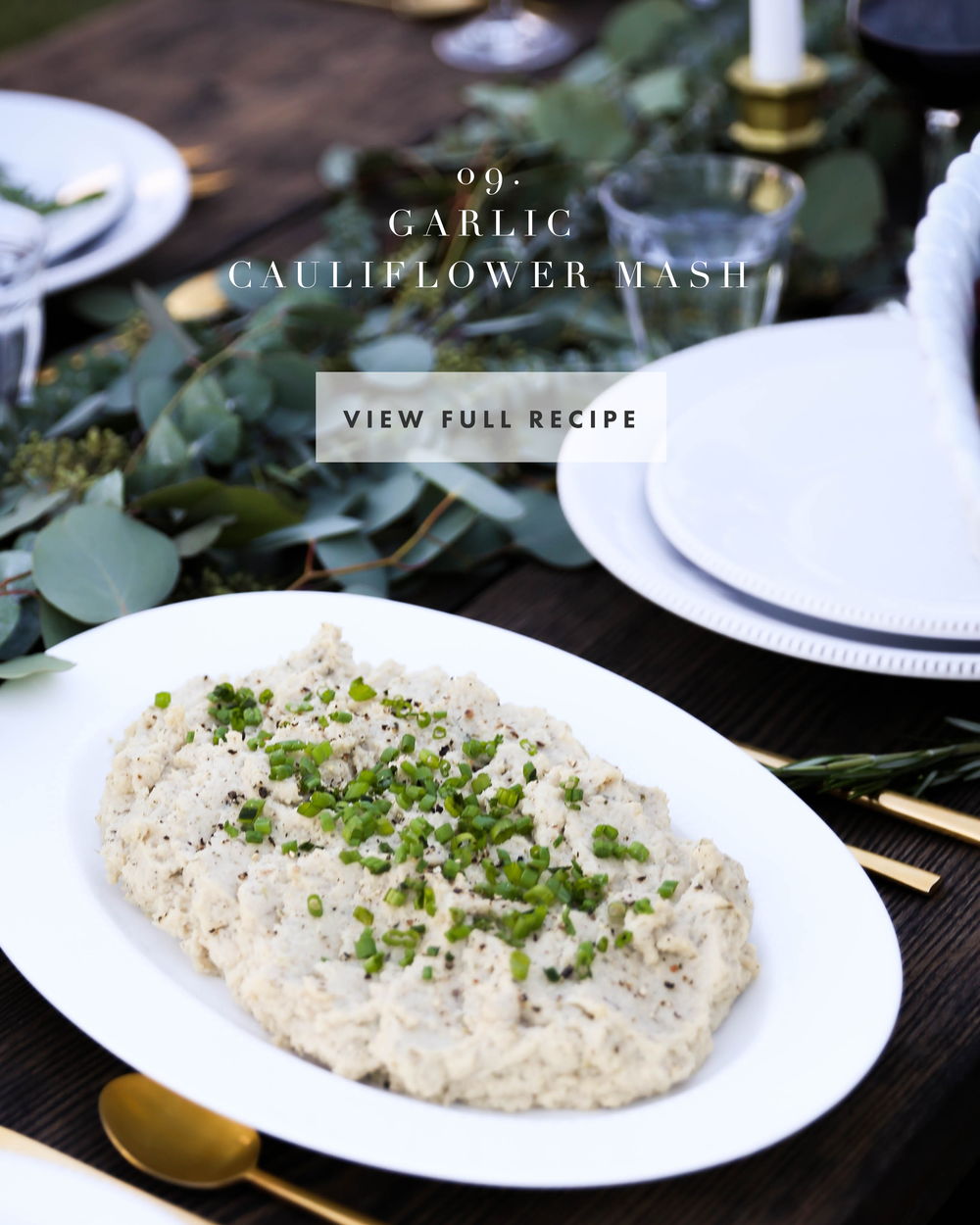 A Holiday Gathering with Feast + Fable | Jennifer Diaz | Holiday Recipes | Healthy Recipes | Christmas Dinner Menu | Friendsgiving | Cauliflower Mashed Potatoes | Candied Pecans