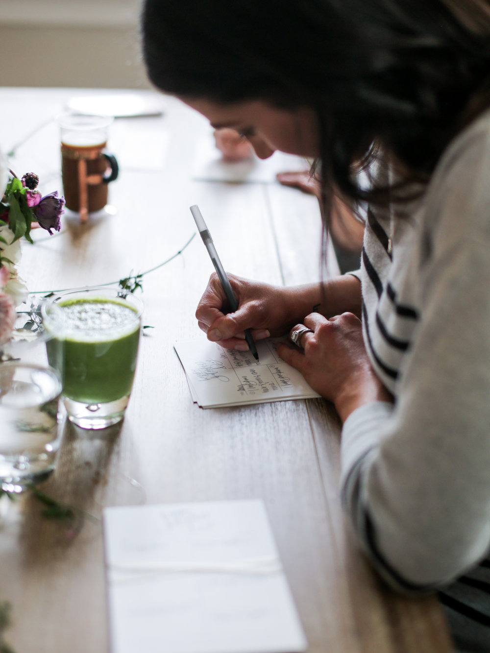A Galentine's Day Brunch With Athleta   Jennifer Diaz   Spinach & Sun Dried Tomato Frittata   Pineapple Mint Green Smoothie   Valentine's Day   Healthy Breakfast