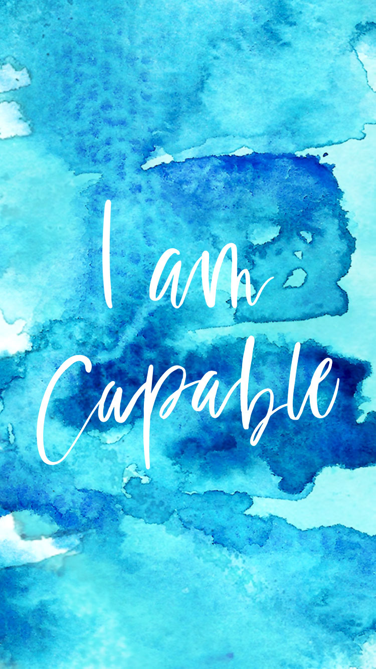 Monthly Mantra: I Am Capable | Jennifer Diaz | Hand Lettering by  Amy May Paper