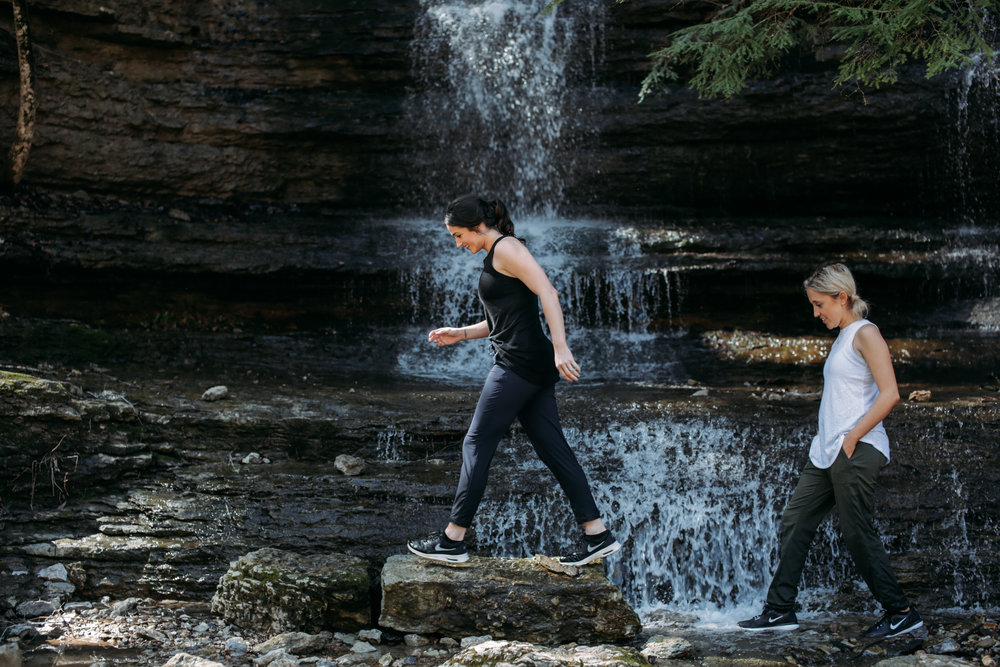 5 Ways to Adventure Well & More Often | Jennifer Diaz | Photo by Kelsey Cherry | How to travel more | Cummins Falls Tennessee | Hiking | Athleta