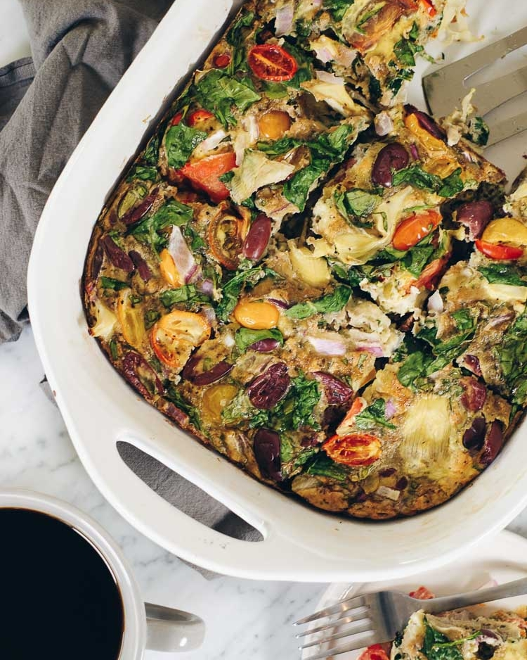 10 Healthy & Quick Options for Breakfast | Jennifer Diaz | Mediterranean Breakfast Frittata by Real Simple Good