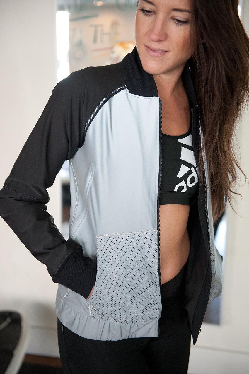 adidas + lululemon bra & jacket