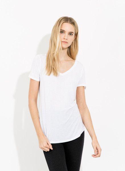 V Tee Cashmere  shirt - Kit & Ace
