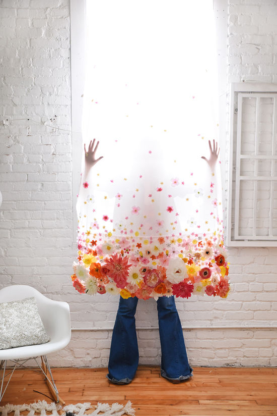 Design Lovefest Oil & Grain DIY Floral Curtains
