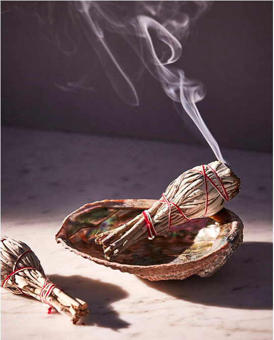 PURIFY & CLEANSE - Purify and cleanse any space with sage. The smoke from dried sage changes the ionic composition of the air and can have a direct effect on reducing our stress response. Light it and let it smolder. Take it around the space you want to cleanse corner to corner.It's like taking an energetic shower, now that's cool.You can find it on Amazon, in a nearby natural food store and even at Urban Outfitters!