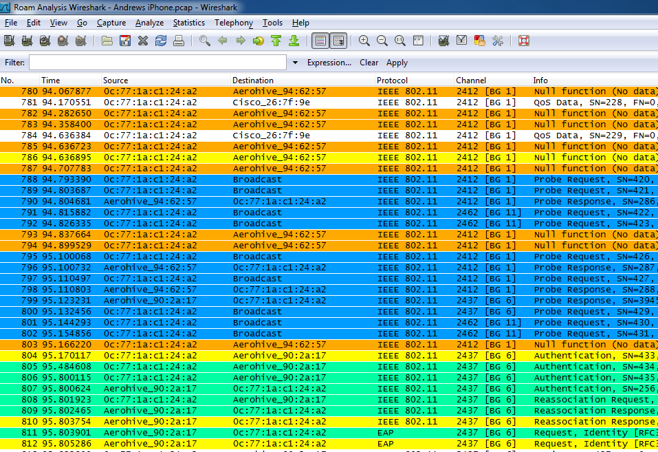 Wi-Fi Roaming Analysis with Wireshark and AirPcap — Revolution Wi-Fi