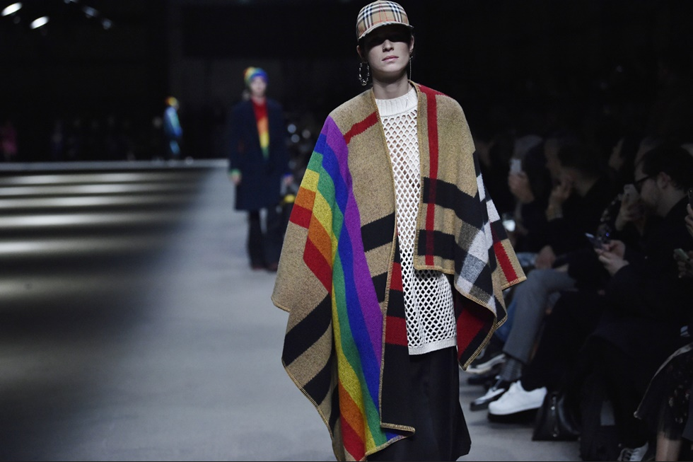 Still from the Burberry FW18 show
