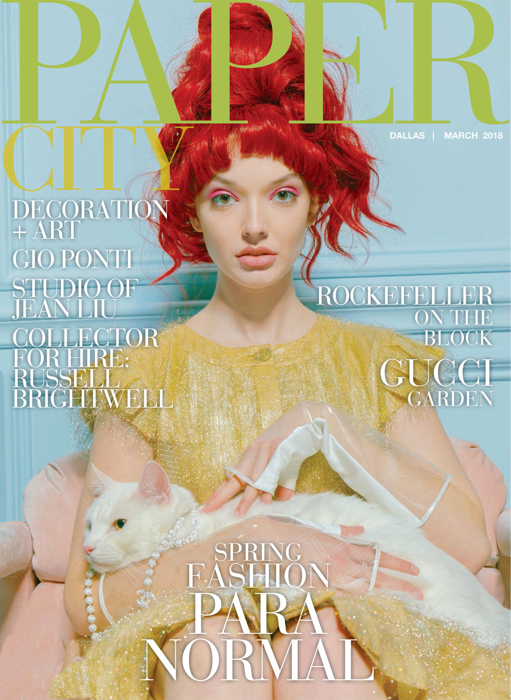 Papercity is a Dallas/Houston based publication and one of the few creative editorial opportunities in the Texas market.