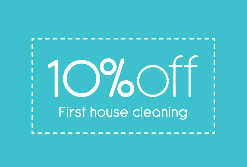 10% first house cleaning