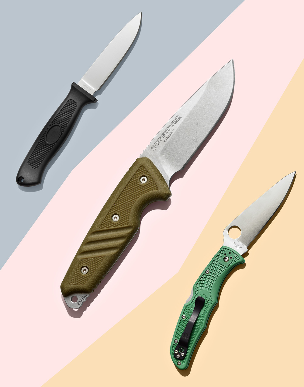 Three Camping Knives