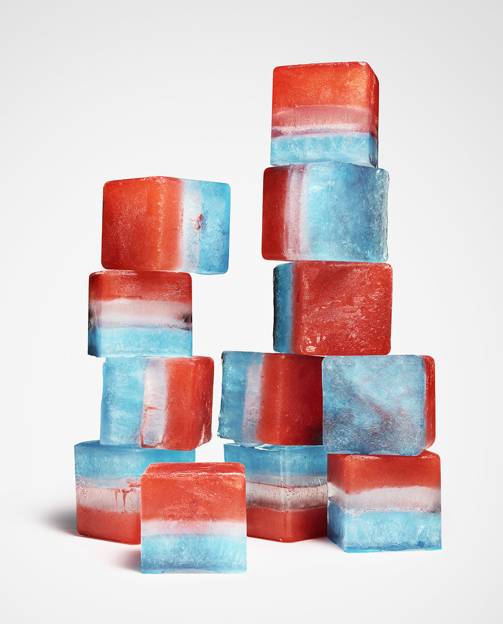 Red White & Blue Ice Cubes