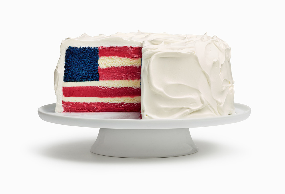 American Flag Ice Cream Cake