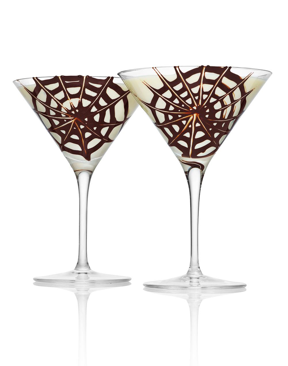 Chocolate Spiderweb Vanilla Milkshake