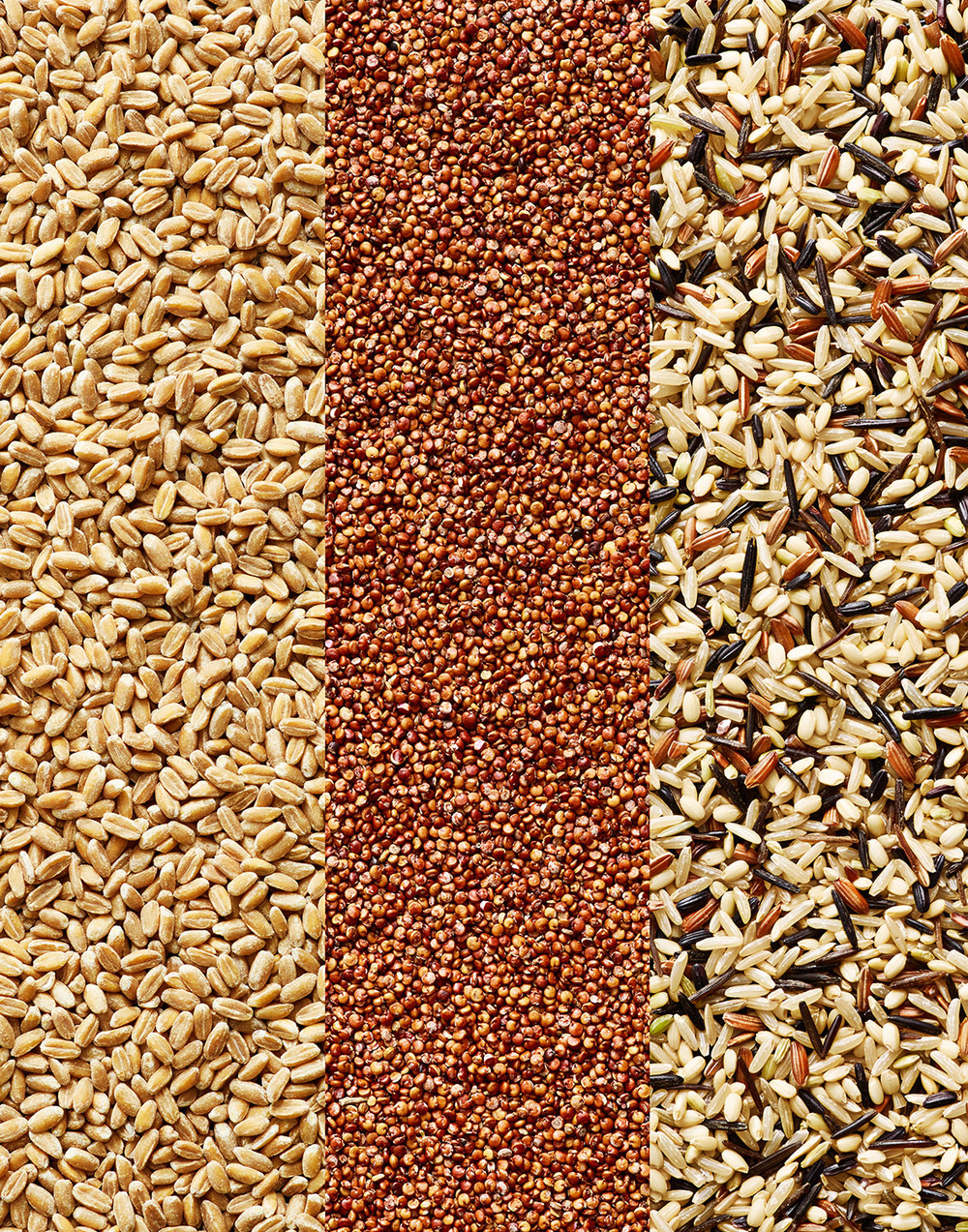 Grains: Farro, Quinoa, Wild Rice